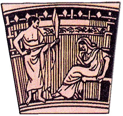 Ослепление полифема рисунок на древнегреческой вазе